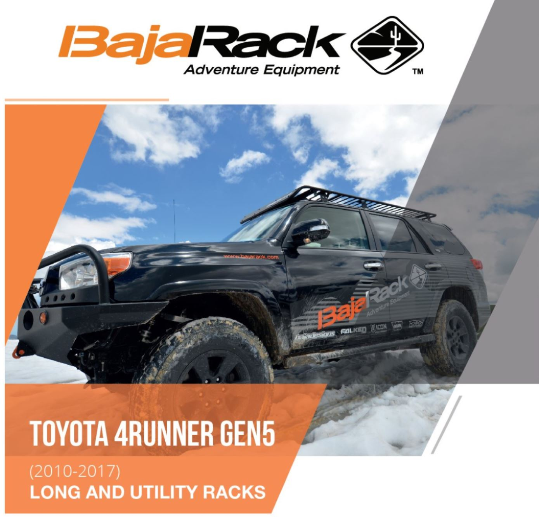 Bajarack 2010 2018 Toyota 4runner Gen 5 Utility Flat Roof Rack With
