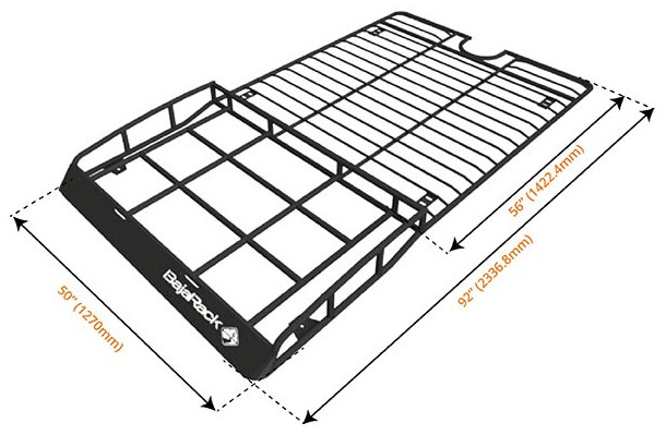 bajarack expedition roof rack for land rover 2005