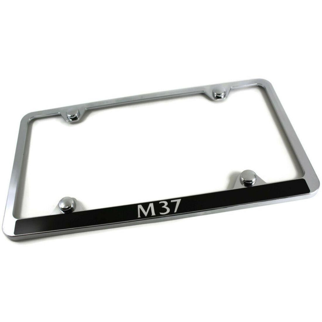 Infiniti M35x Slim ABS Plastic License Plate Tag Frame Mirror Chrome Screw Cap