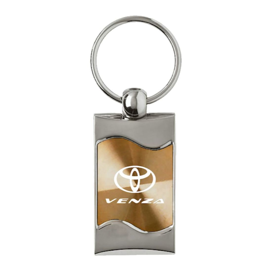 Toyota Venza Black Leather Key Chain Au-TOMOTIVE GOLD
