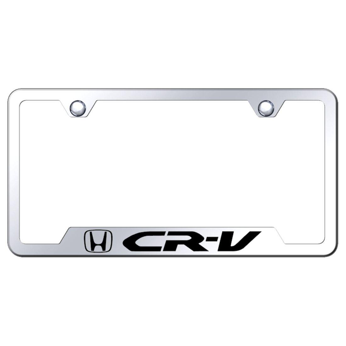 Honda CRV Chrome Metal License Plate Frame