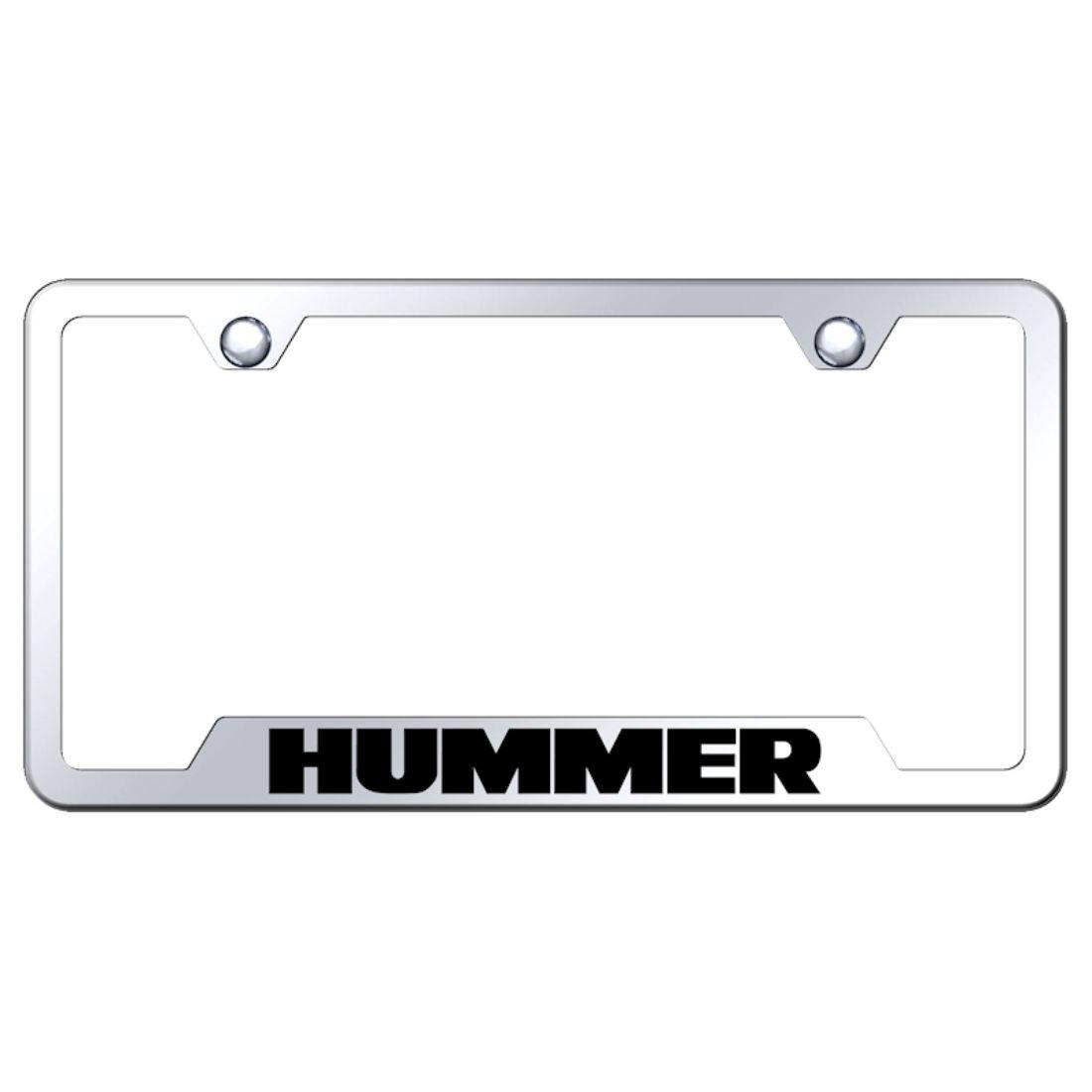 Hummer Black and Chrome License Plate