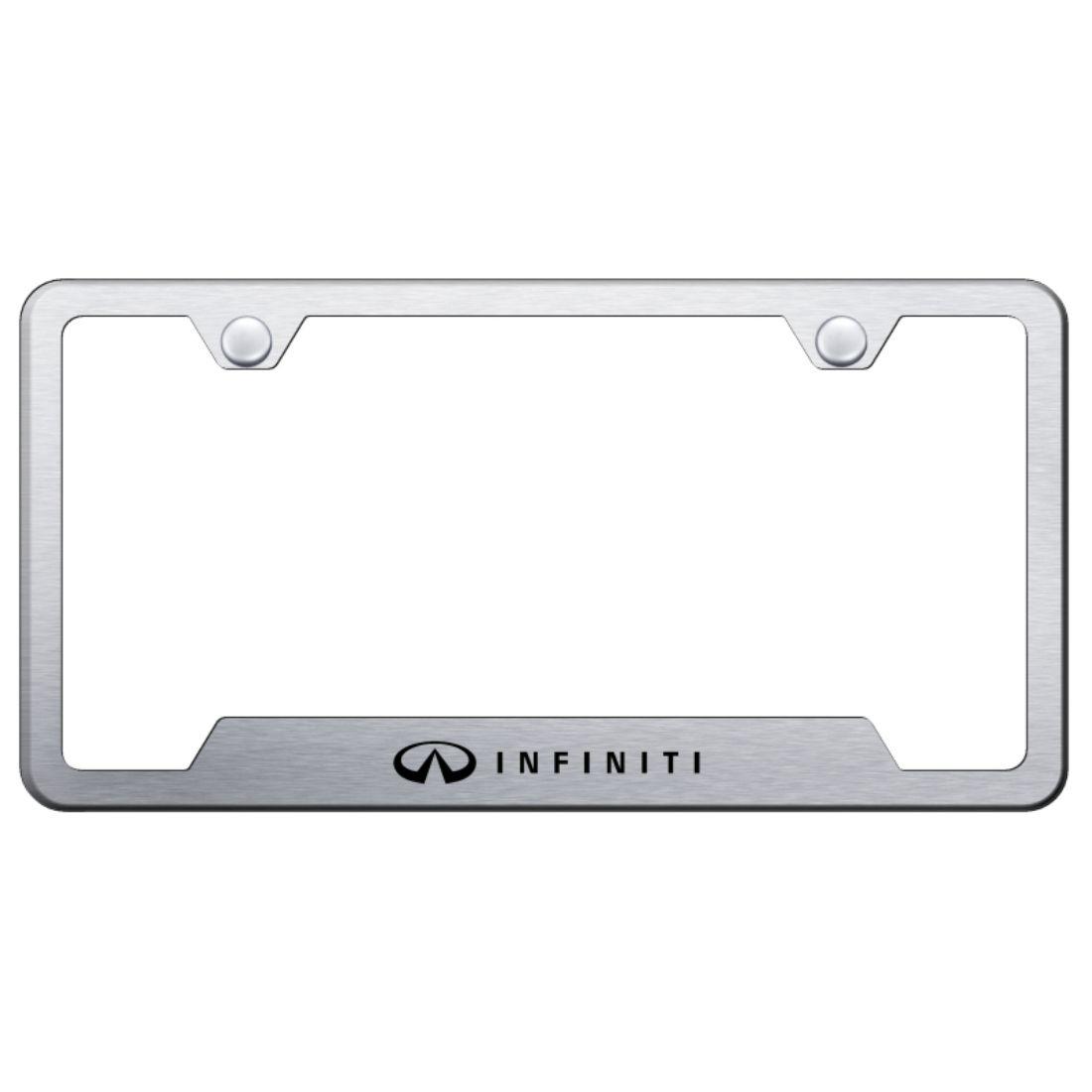 Infiniti Qx60 Black Stainless Steel License Plate Frame