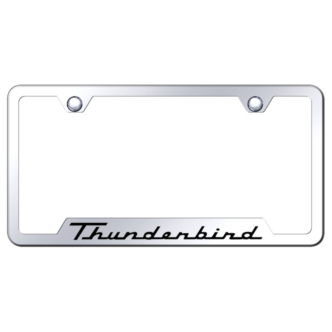 Ford Thunderbird Laser Etched Black Stainless Steel License Plate Frame