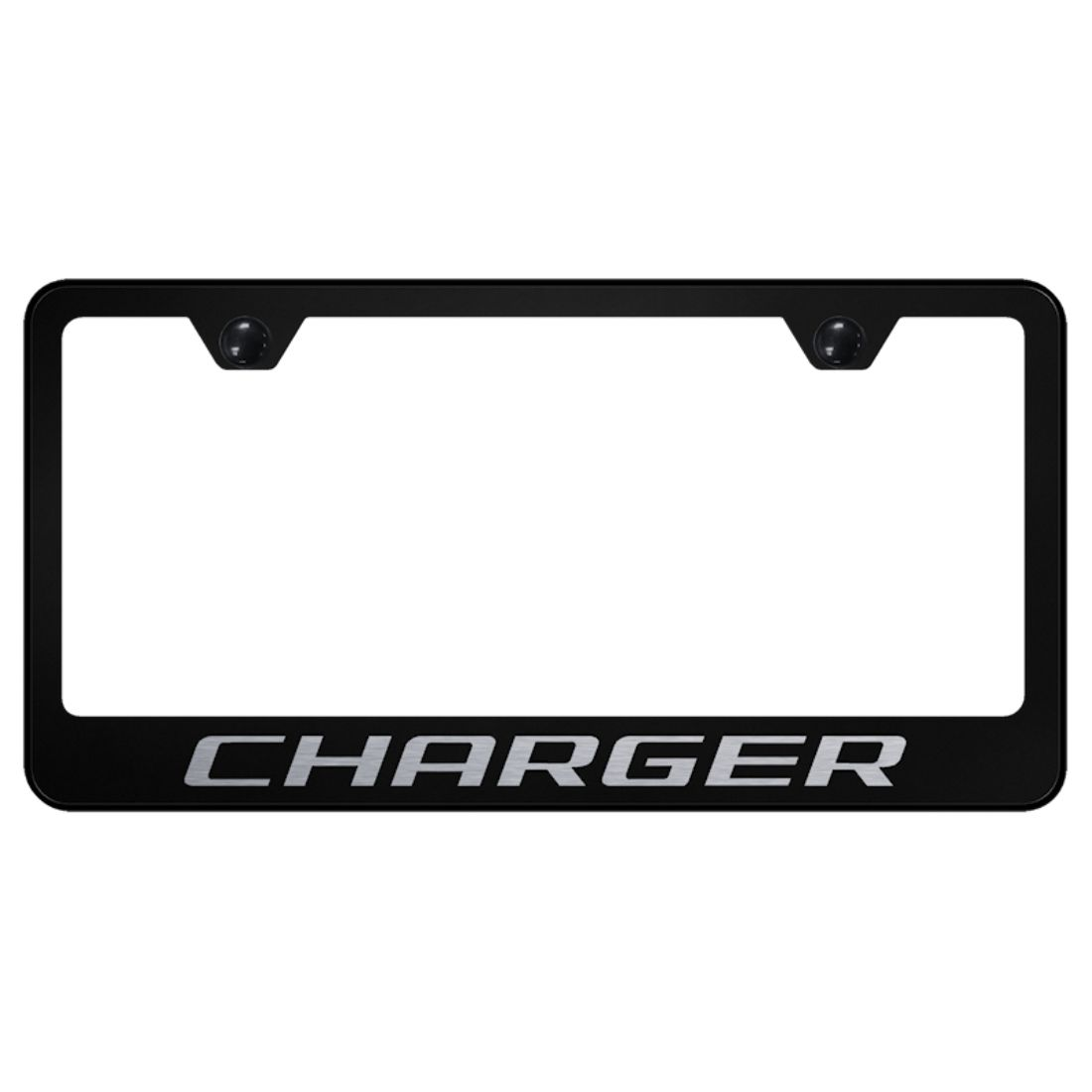 Dodge Charger Black Stainless Steel License Plate Frame