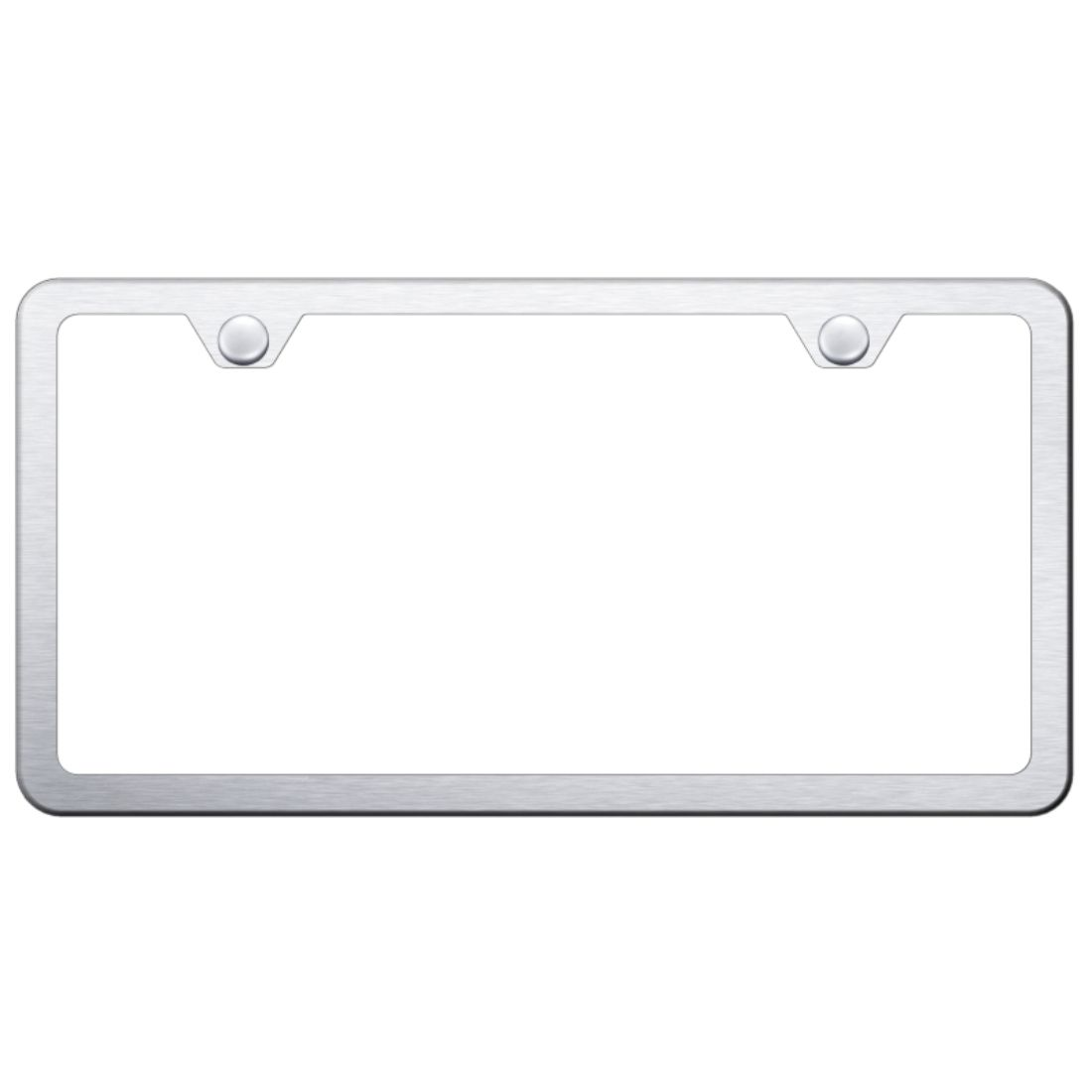 Blank Plain Stainless Steel License Plate