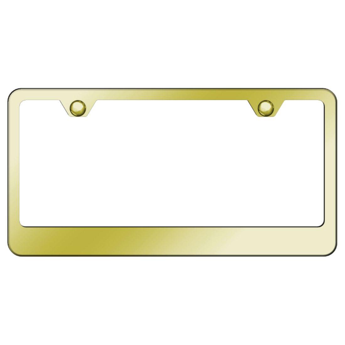 Plain Blank Black Stainless Steel License Plate Frame Lf