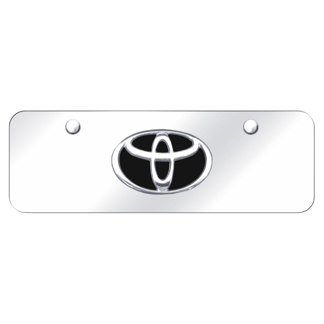 Toyota Tacoma Logo License Plate Standard Frame Black Powder Stainless Steel