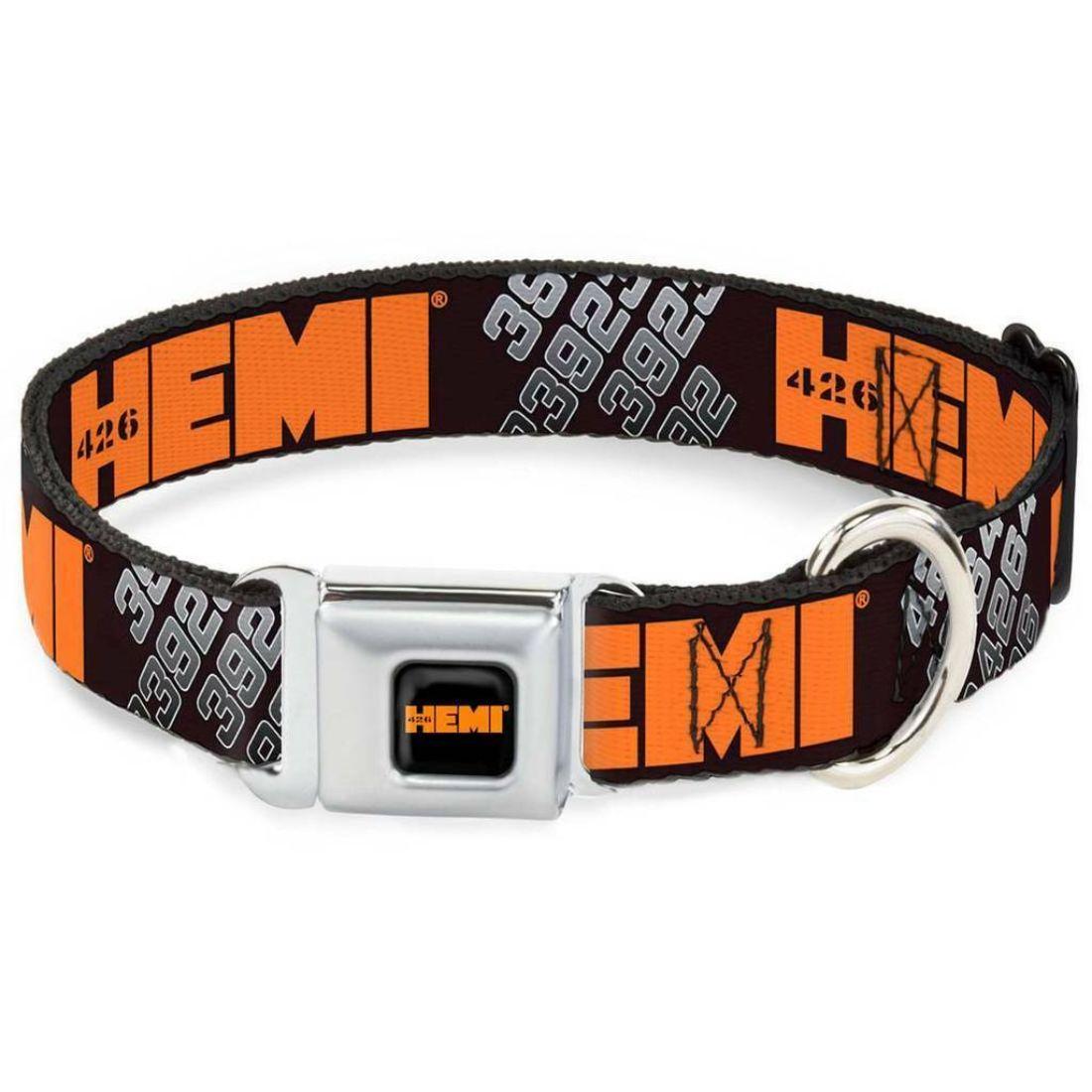 Chrysler Automobile Company Orange 426 Hemi Seatbelt Pet Collar