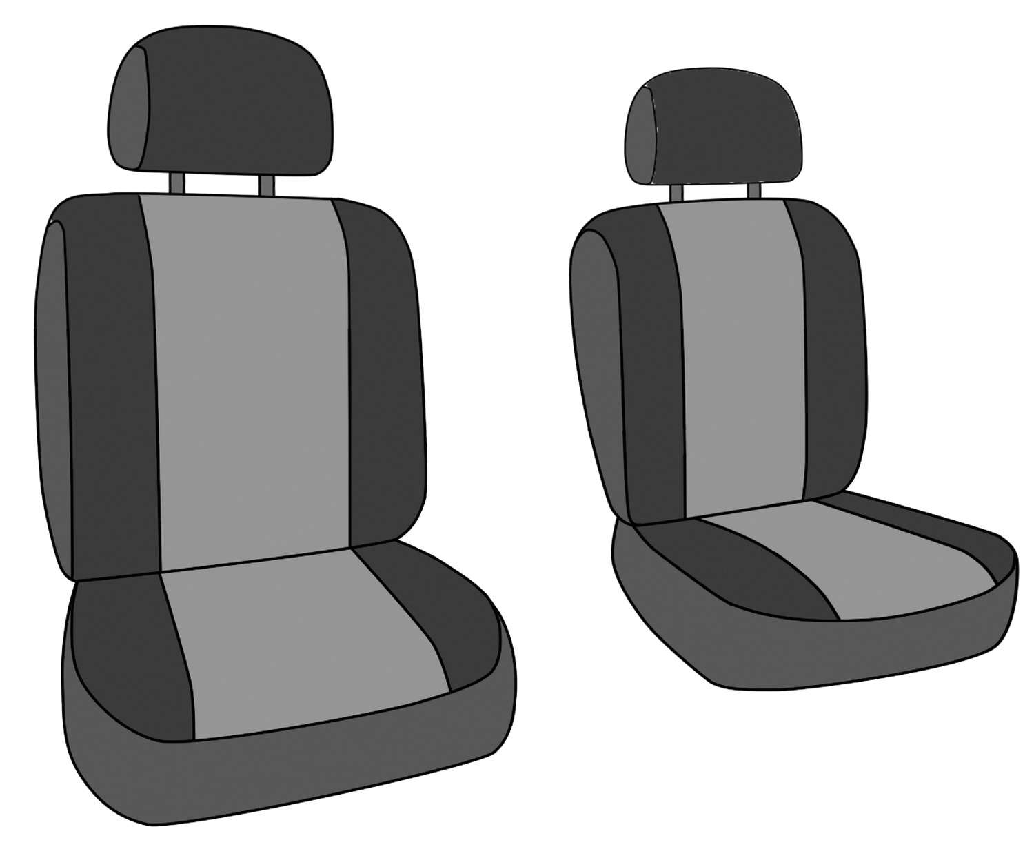 Caltrend Synthetic Leather Front Custom Seat Cover For