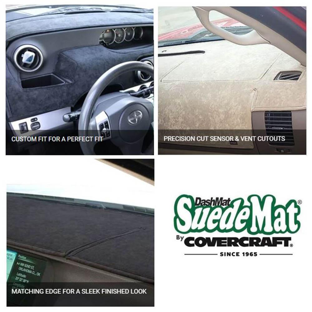 Faux-Suede, Black Covercraft DashMat SuedeMat Dashboard Cover for Mercedes-Benz E350