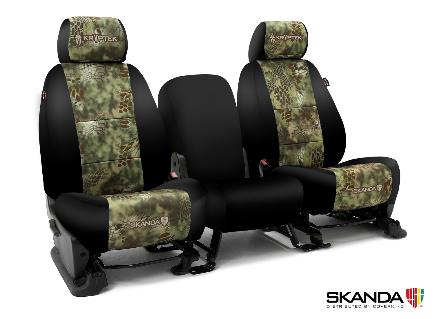 Coverking Kryptek Front Custom Car Seat Cover For Dodge