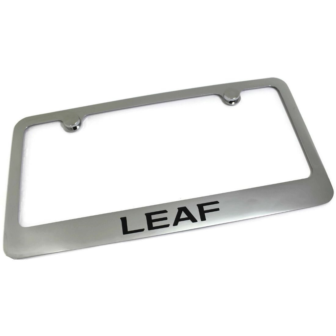Nissan Leaf License Plate Frame Number Tag Rotary Engraved