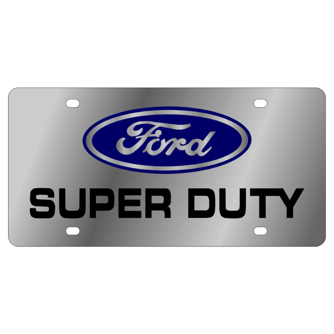 Ford Super Duty Black Stainless Steel License Plate Frame