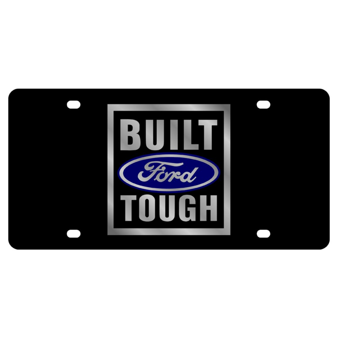 F150 Laser Etched Premium Built Ford Tough Black License Plate Frame Licensed