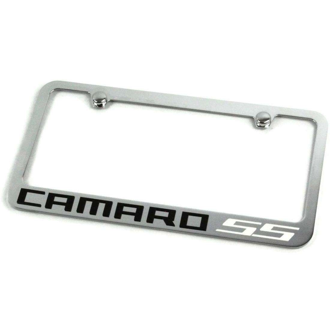 Chevrolet Camaro Red SS Metal Chrome License Frame EL