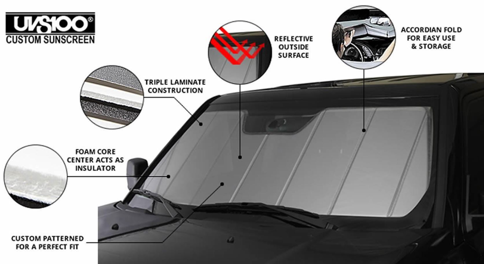 UVS100 Custom Car Window Windshield Sun Shade For Toyota 2014-2017 Corolla